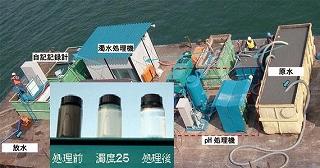 無機系凝集剤『水夢(スイム)』工事現場での施工例